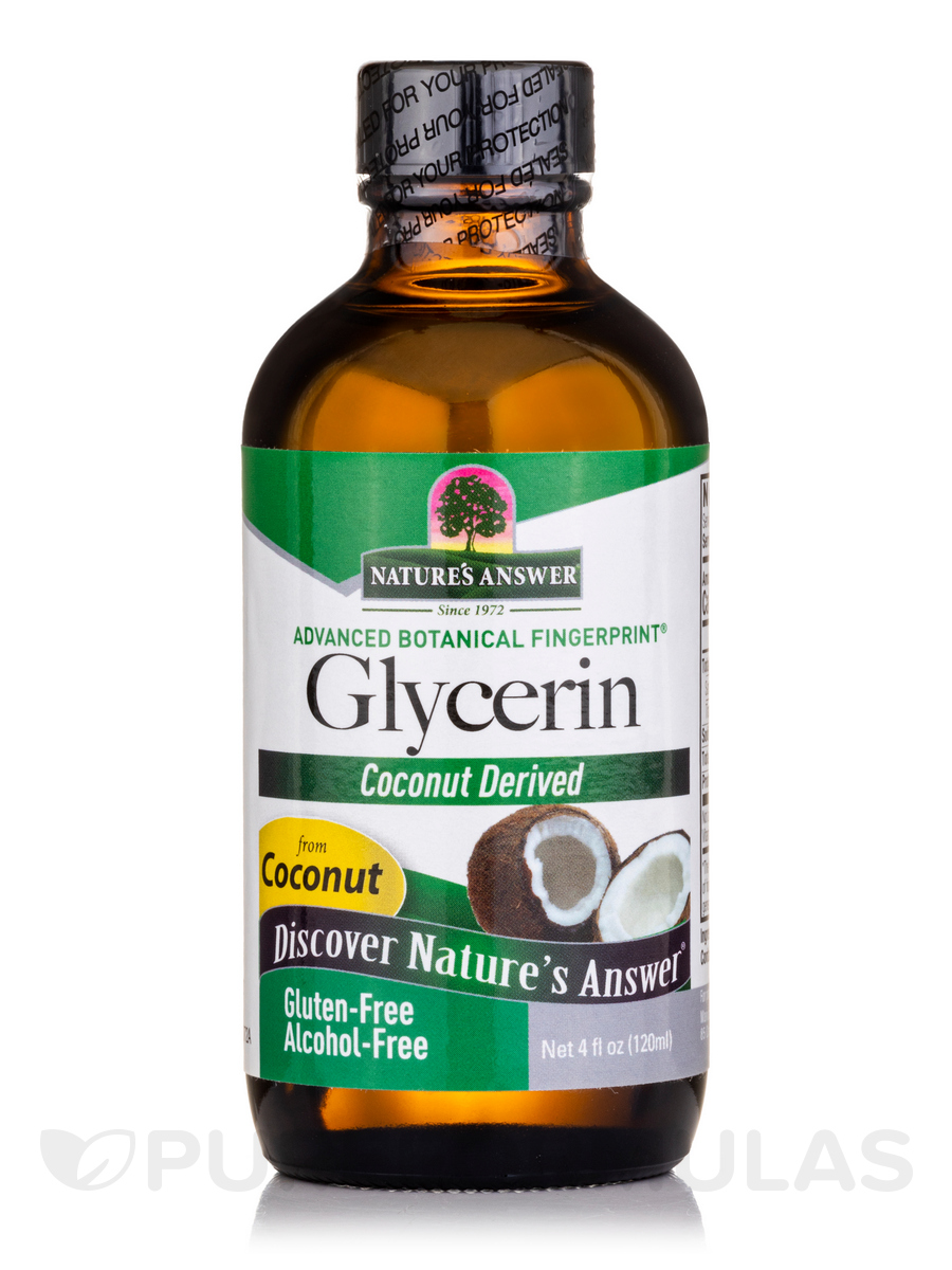 Glycerine Pure Vegetable (Coconut Derived, Alcohol-Free) - 4 fl. oz (120 ml)
