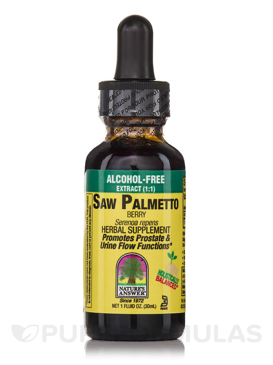 Saw Palmetto Berry Extract (Alcohol-Free ) - 1 fl. oz (30 ml)
