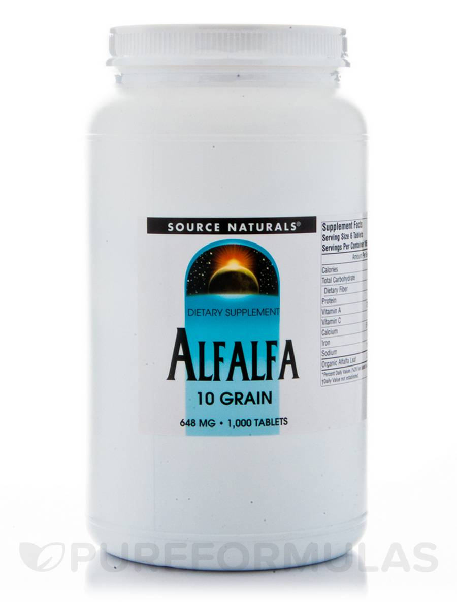 Alfalfa 10 Grain 648 mg - 1000 Tablets
