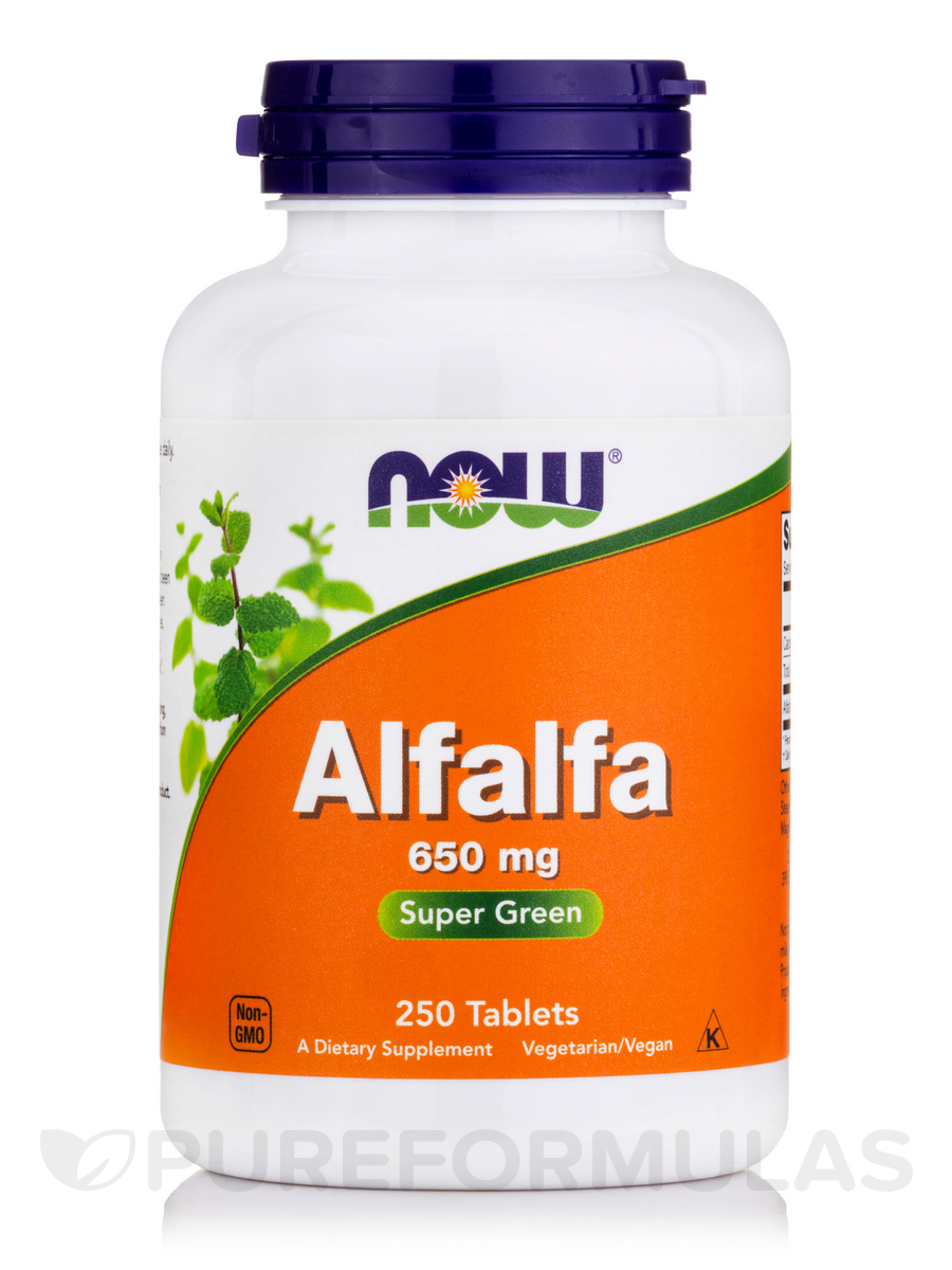 Alfalfa 650 mg - 250 Tablets