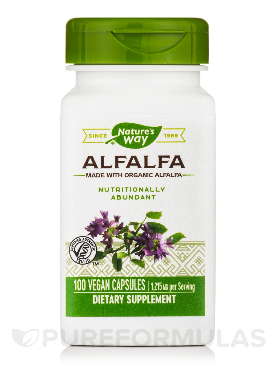 Alfalfa Leaves 405 mg - 100 Capsules