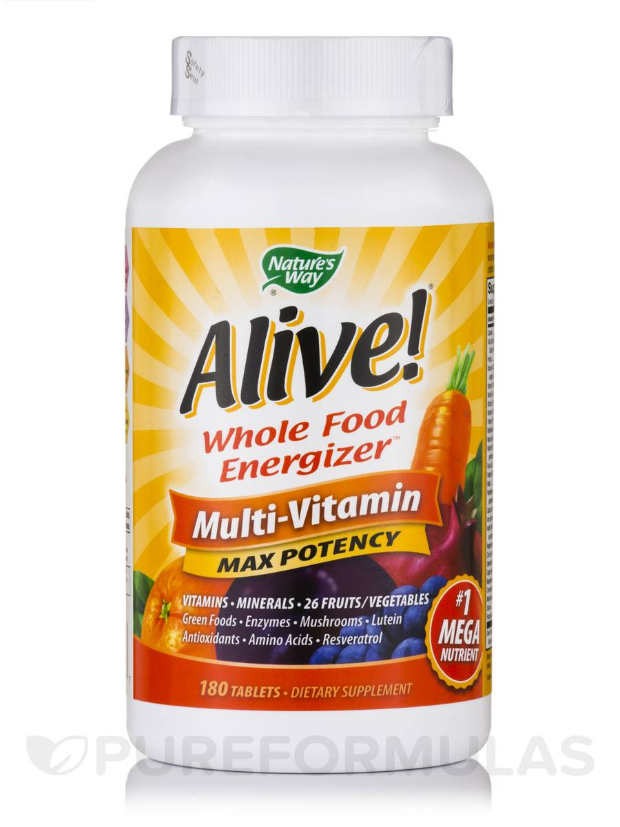 Alive!® Multi-Vitamin (with Iron) - 180 Tablets