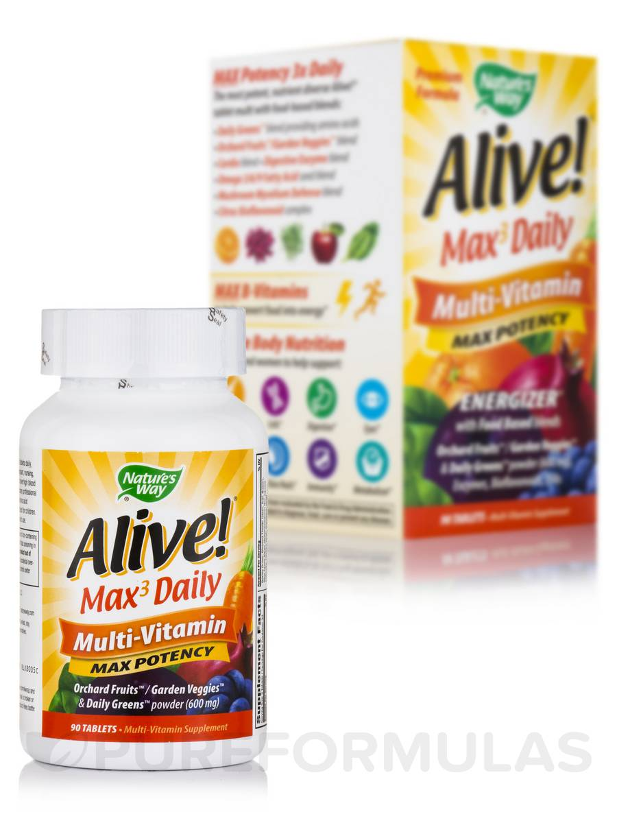 Alive!® Multi-Vitamin (Max Potency) - 90 Tablets