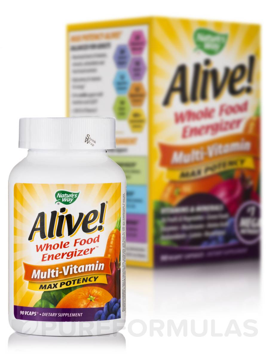 Alive!® Multi-Vitamin (with Iron) - 90 VCaps