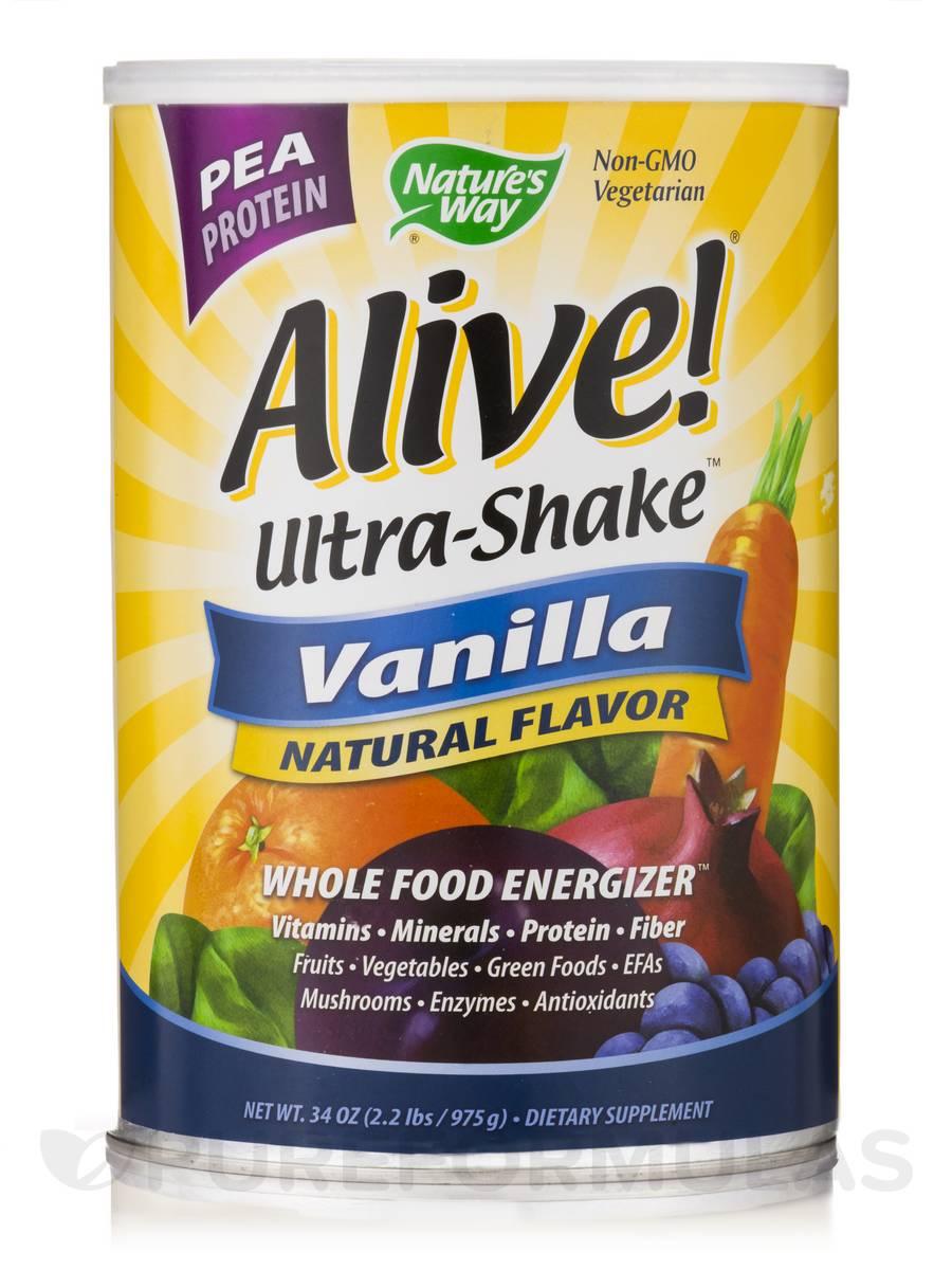 Alive!® Ultra-Shake Pea Protein Vanilla - 34 oz (2.2 lb - 975 Grams)