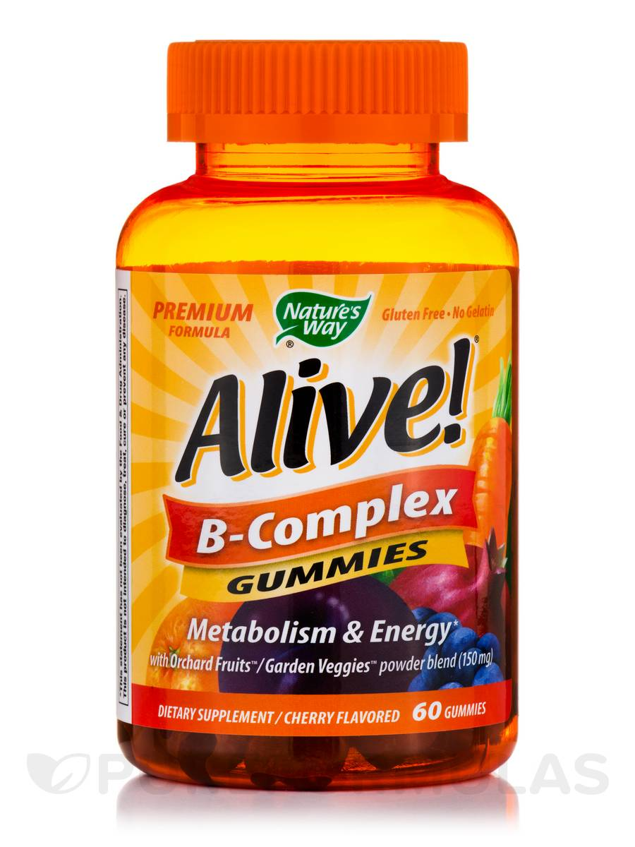 Alive!® B-Complex Gummies, Cherry Flavored - 60 Gummies