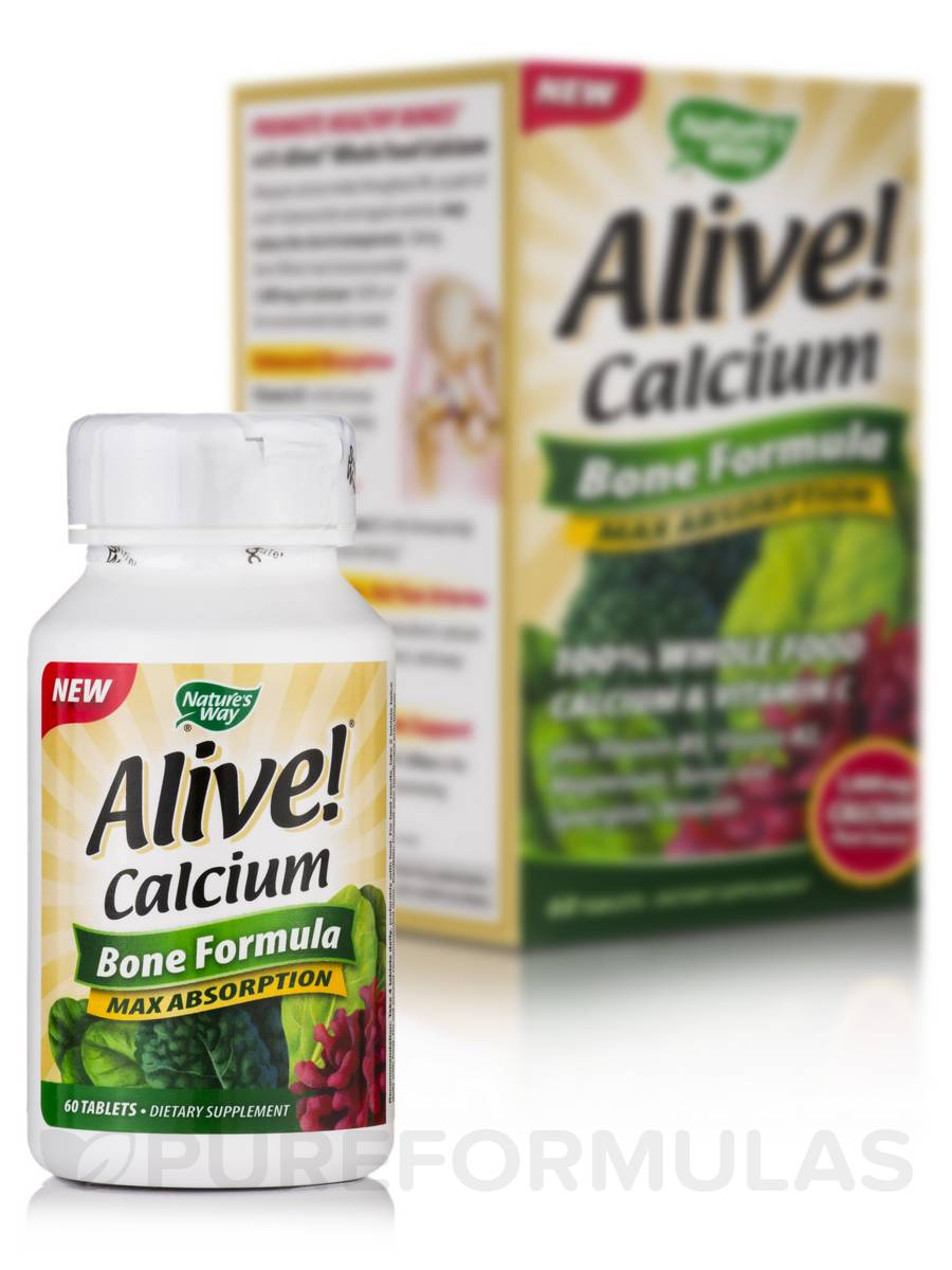 Alive!® Calcium - 60 Tablets
