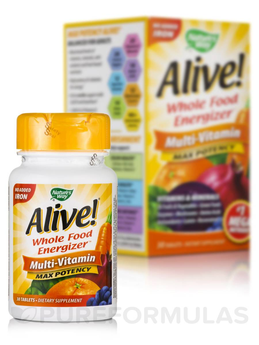 Alive!® Max Potency (no iron added) - 30 Tablets