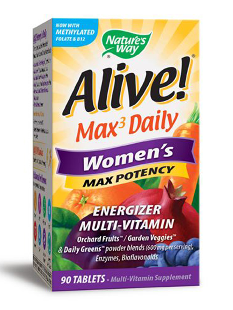 Alive!® Max 3 Daily Women's Multi (Max Potency) - 90 Tablets