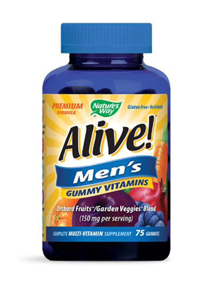 Alive!® Men's Gummy Multi-Vitamin (Assorted Flavors) - 75 Gummies