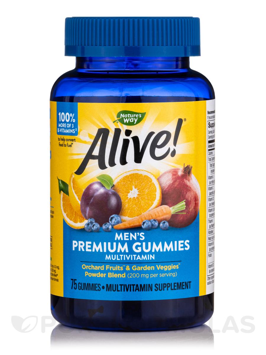 Alive!® Men's Gummy Multi-Vitamin, Assorted Flavors - 75 Gummies