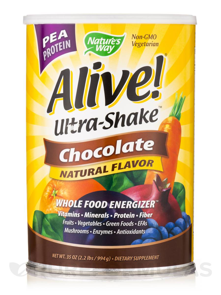 Alive!® Pea Protein Shake Chocolate - 2.2 lbs (35 oz / 994 Grams)