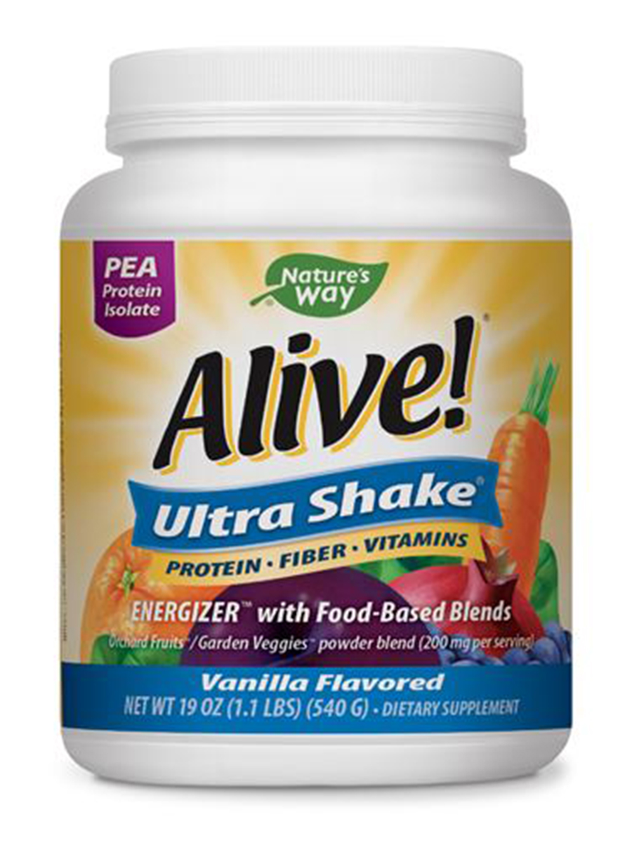 Alive!® Pea Protein Shake Vanilla - 1.3 lbs (20 oz / 567 Grams)
