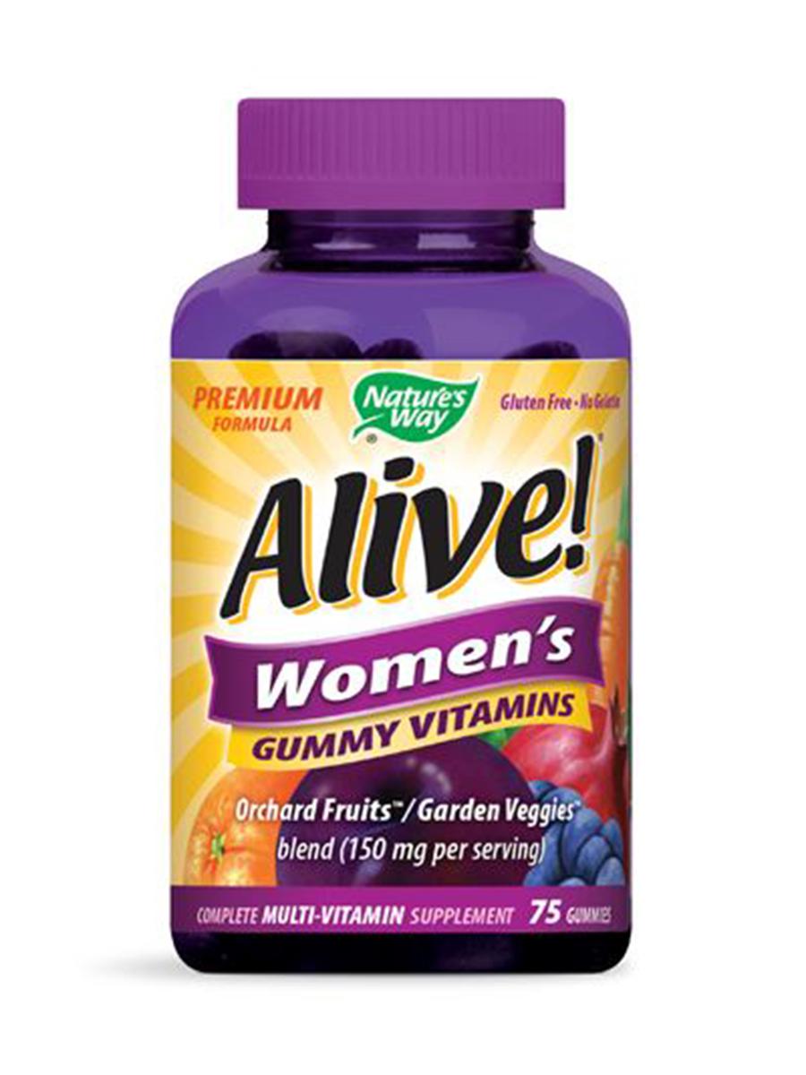 Alive!® Women's Gummy Multi-Vitamin, Assorted Flavors - 75 Gummies