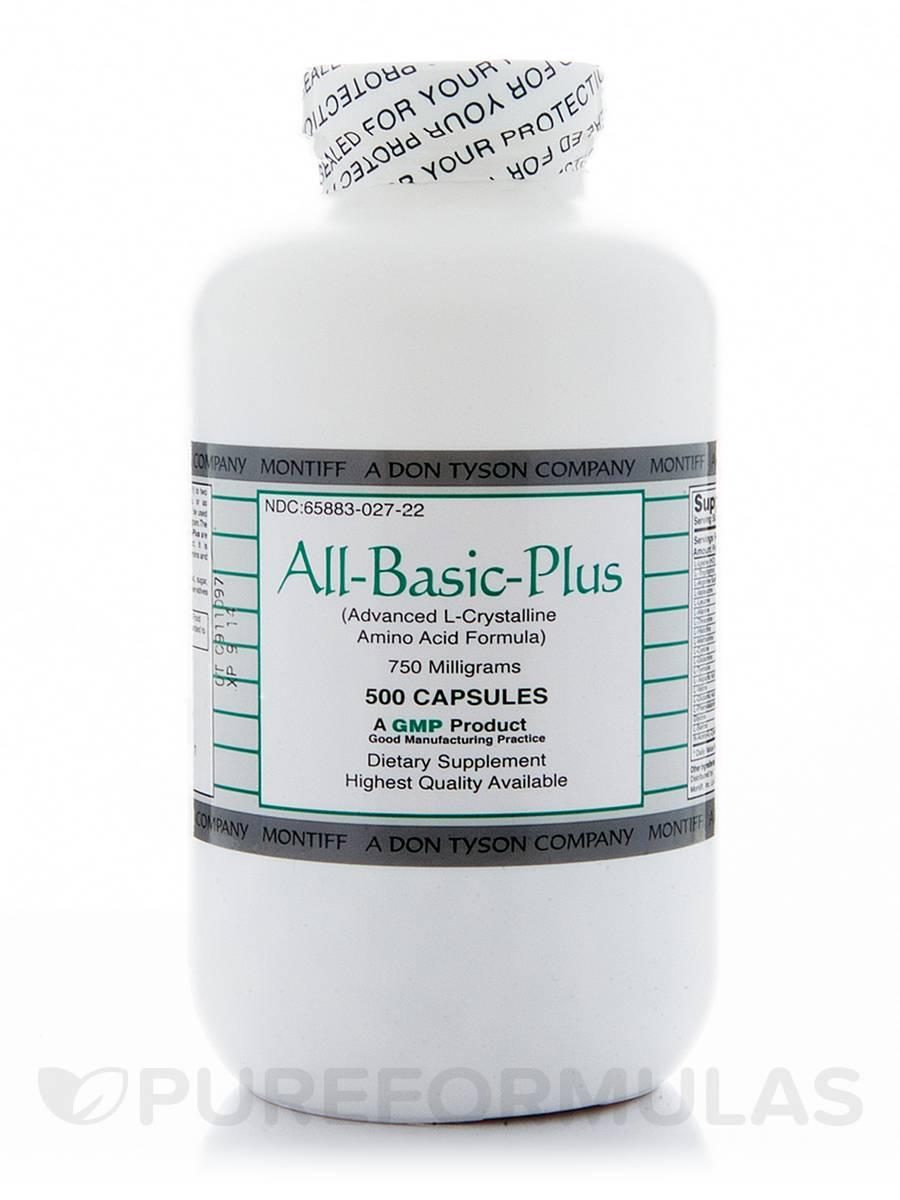 All-Basic-Plus 750 mg - 500 Capsules