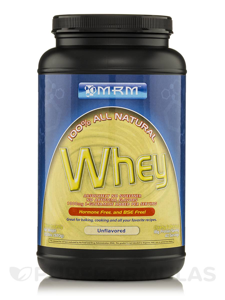 All Natural Whey (Unflavored) - 2.03 lbs (920 Grams)