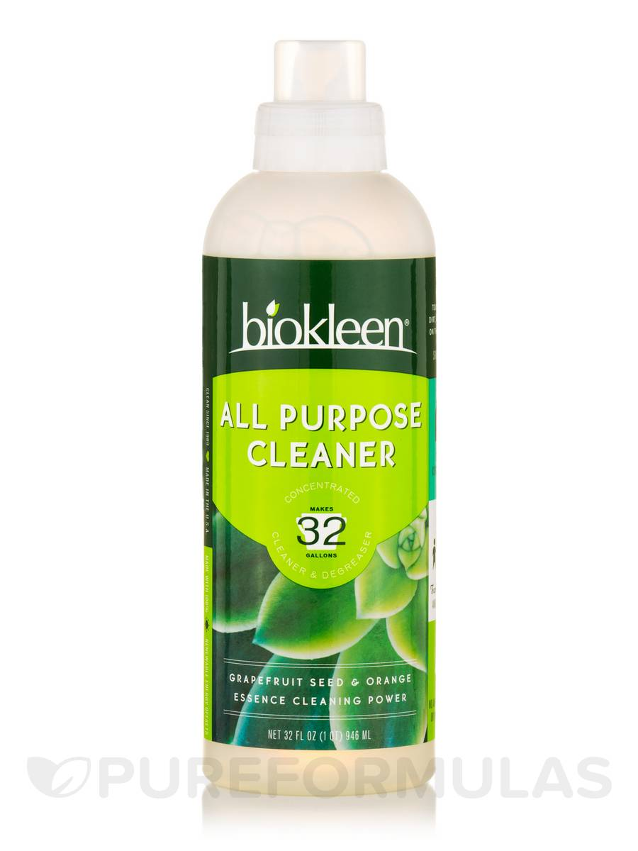 All Purpose Cleaner (Concentrated Cleaner & Degreaser) - Grapefruit Seed & Orange Essence - 32 fl. oz (946 ml)