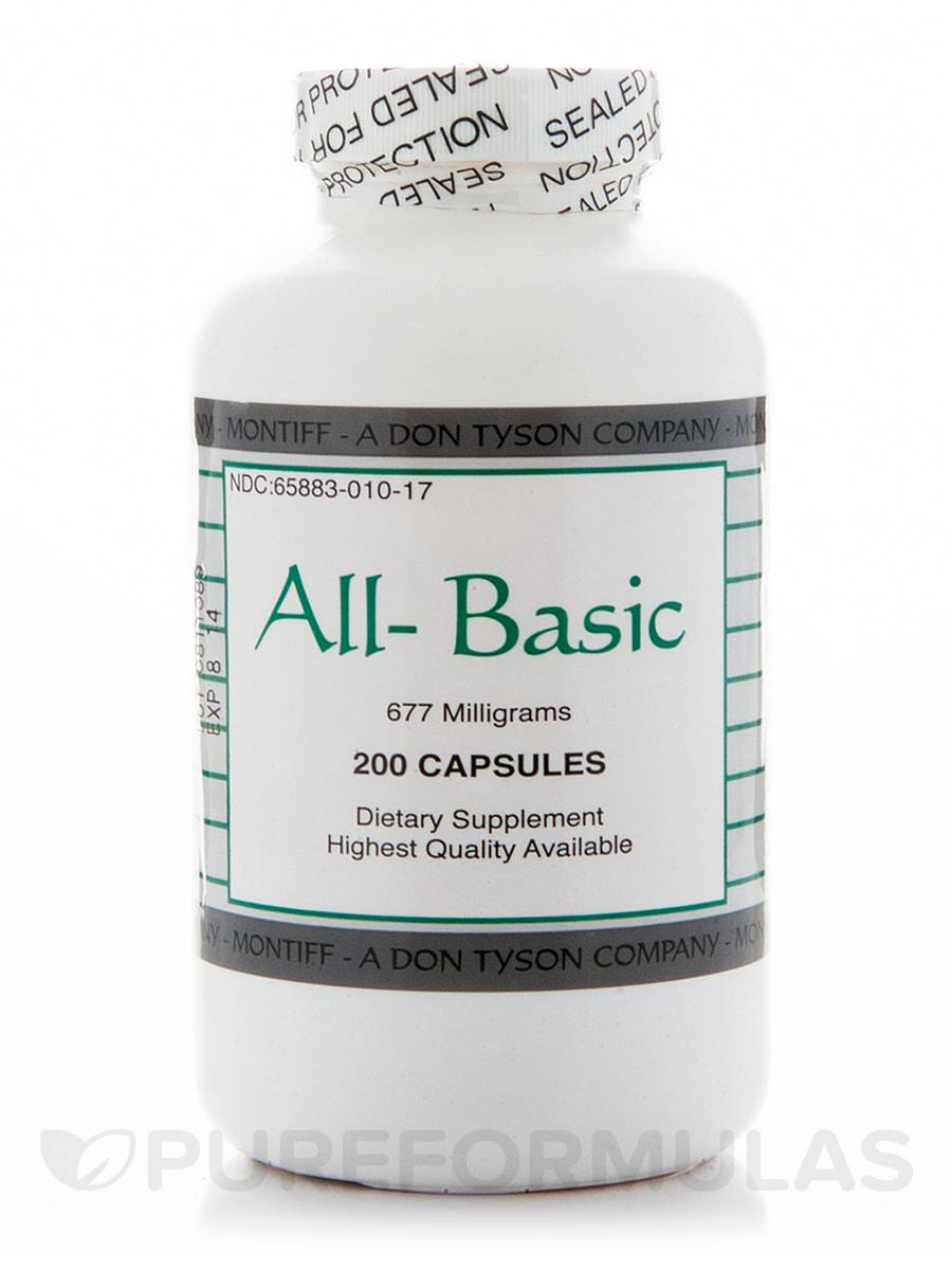 All-Basic 677 mg - 200 Capsules