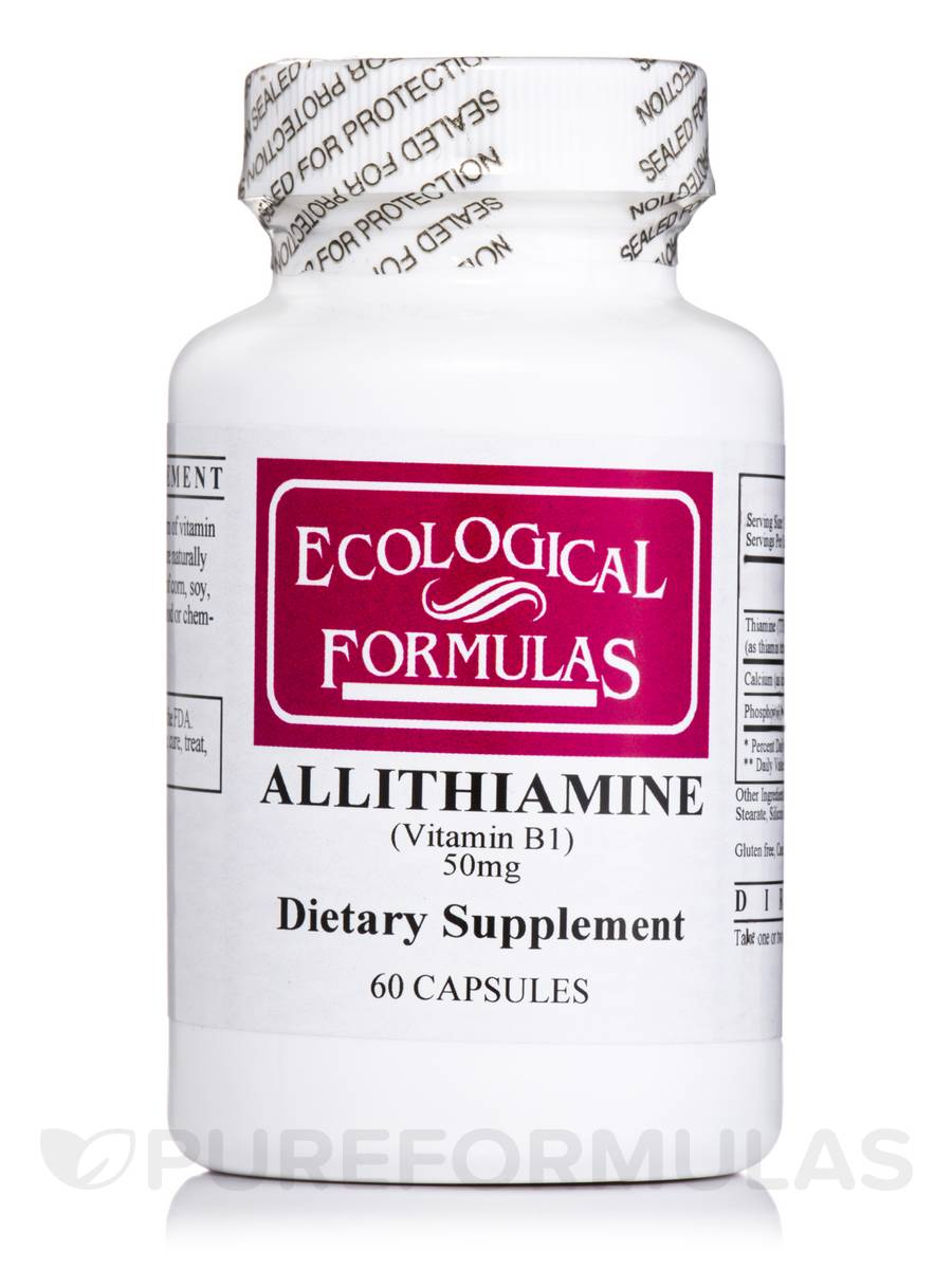 Allithiamine Vitamin B1 50 mg - 60 Capsules