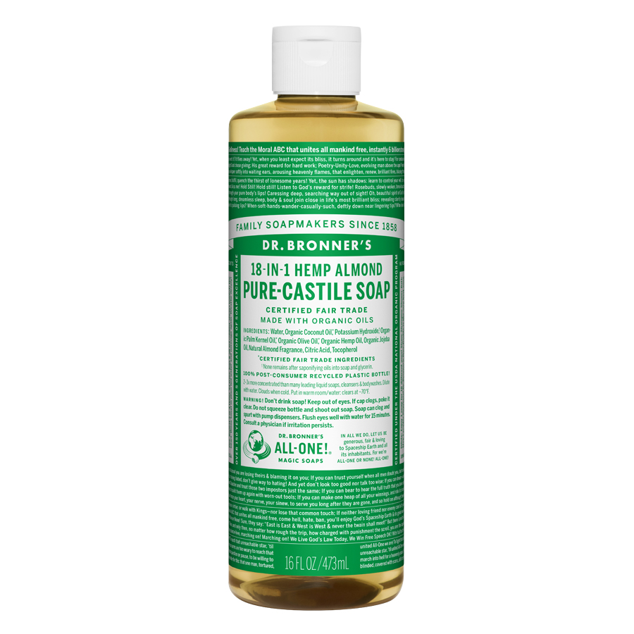 Almond Oil Pure Castile Liquid Soap - 16 fl. oz (473 ml)