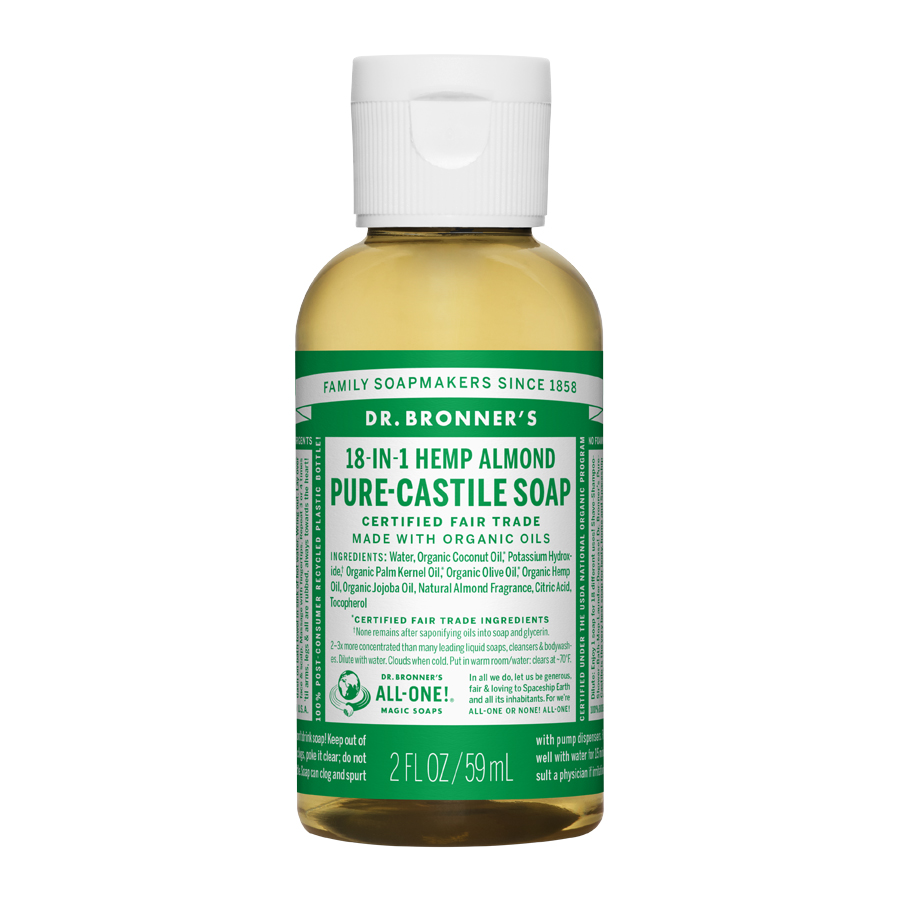 Almond Oil Pure Castile Liquid Soap - 2 fl. oz (59 ml)