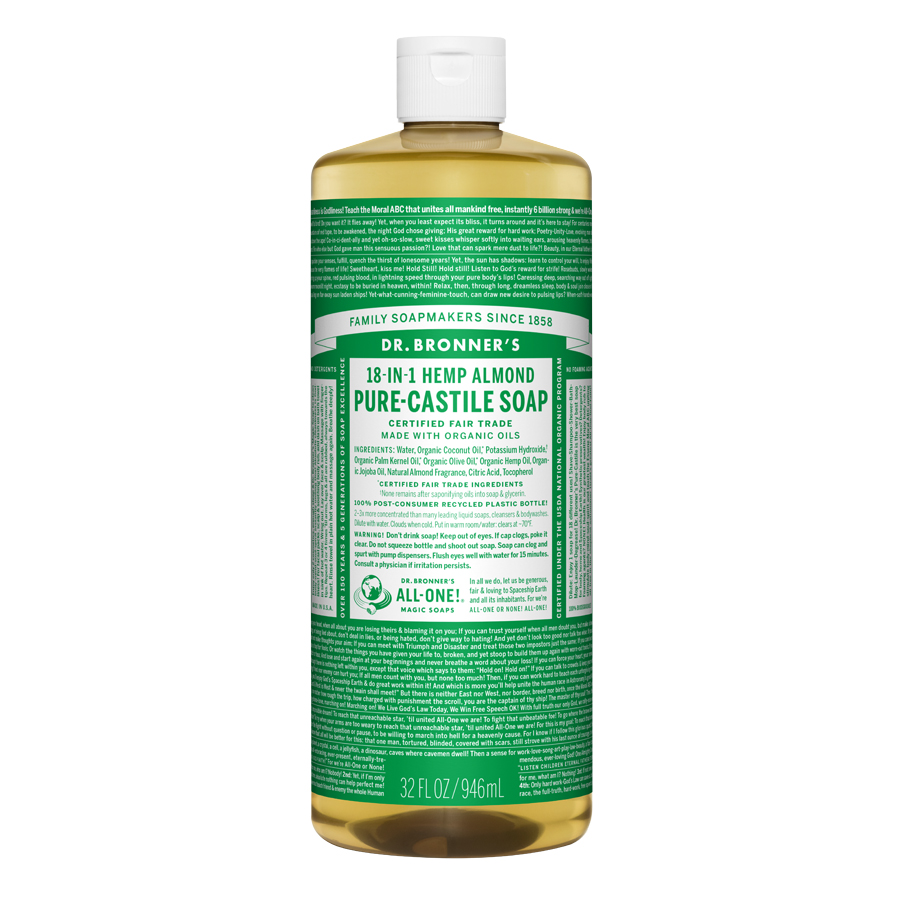 Almond Oil Pure Castile Liquid Soap - 32 fl. oz (946 ml)