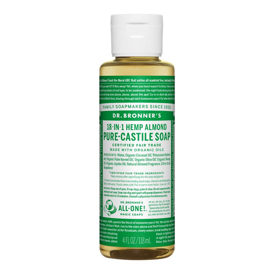 Almond Oil Pure Castile Liquid Soap - 4 fl. oz (118 ml)