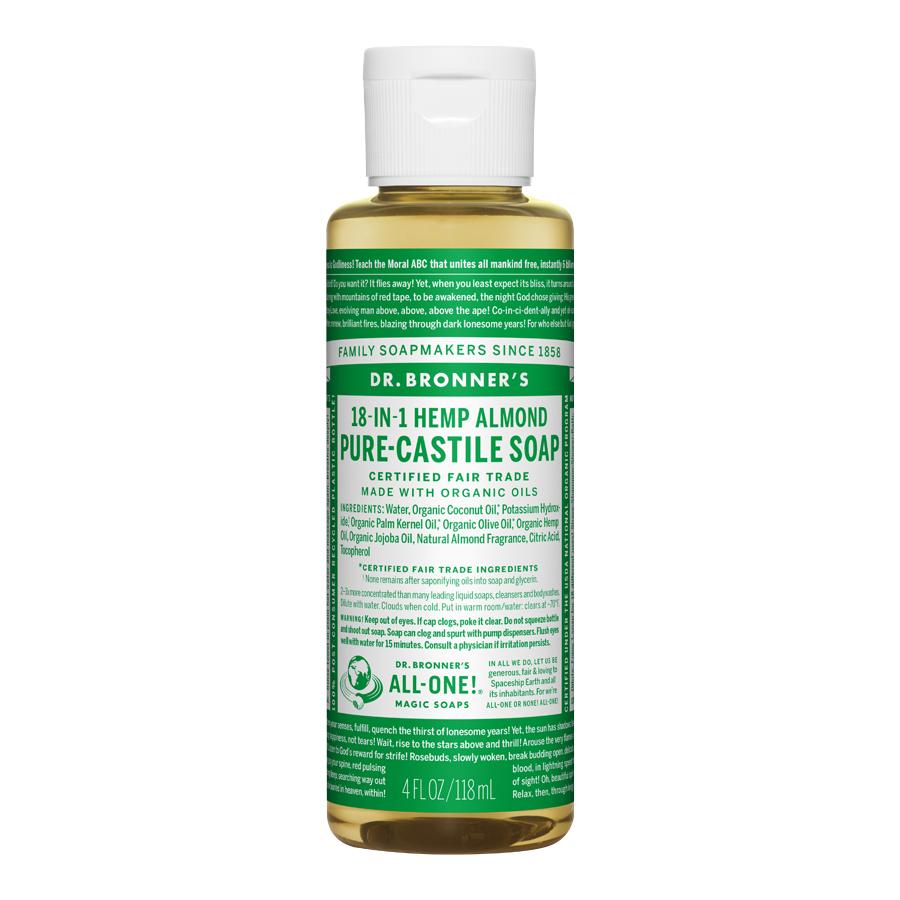 Almond Oil Pure Castile Liquid Soap - 4 fl. oz (118 ml)