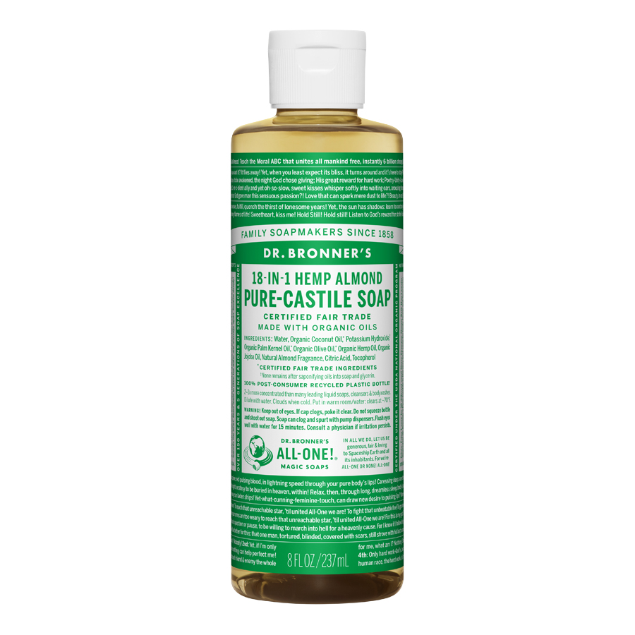 Almond Oil Pure Castile Liquid Soap - 8 fl. oz (237 ml)
