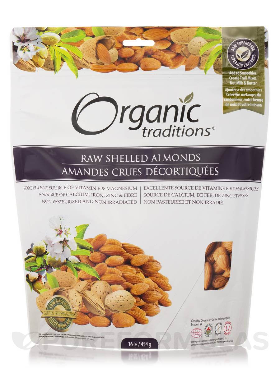 Raw Shelled Almonds - 16 oz (454 Grams)