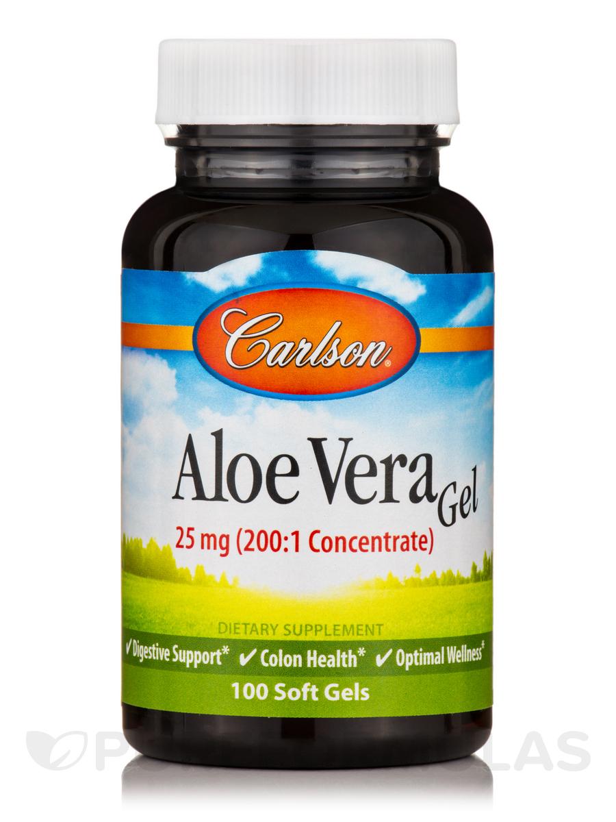 Aloe Vera Gel 25 mg - 100 Soft Gels