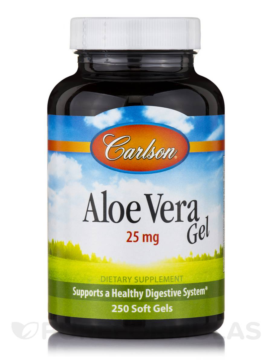 Aloe Vera Gel 25 mg - 250 Soft Gels