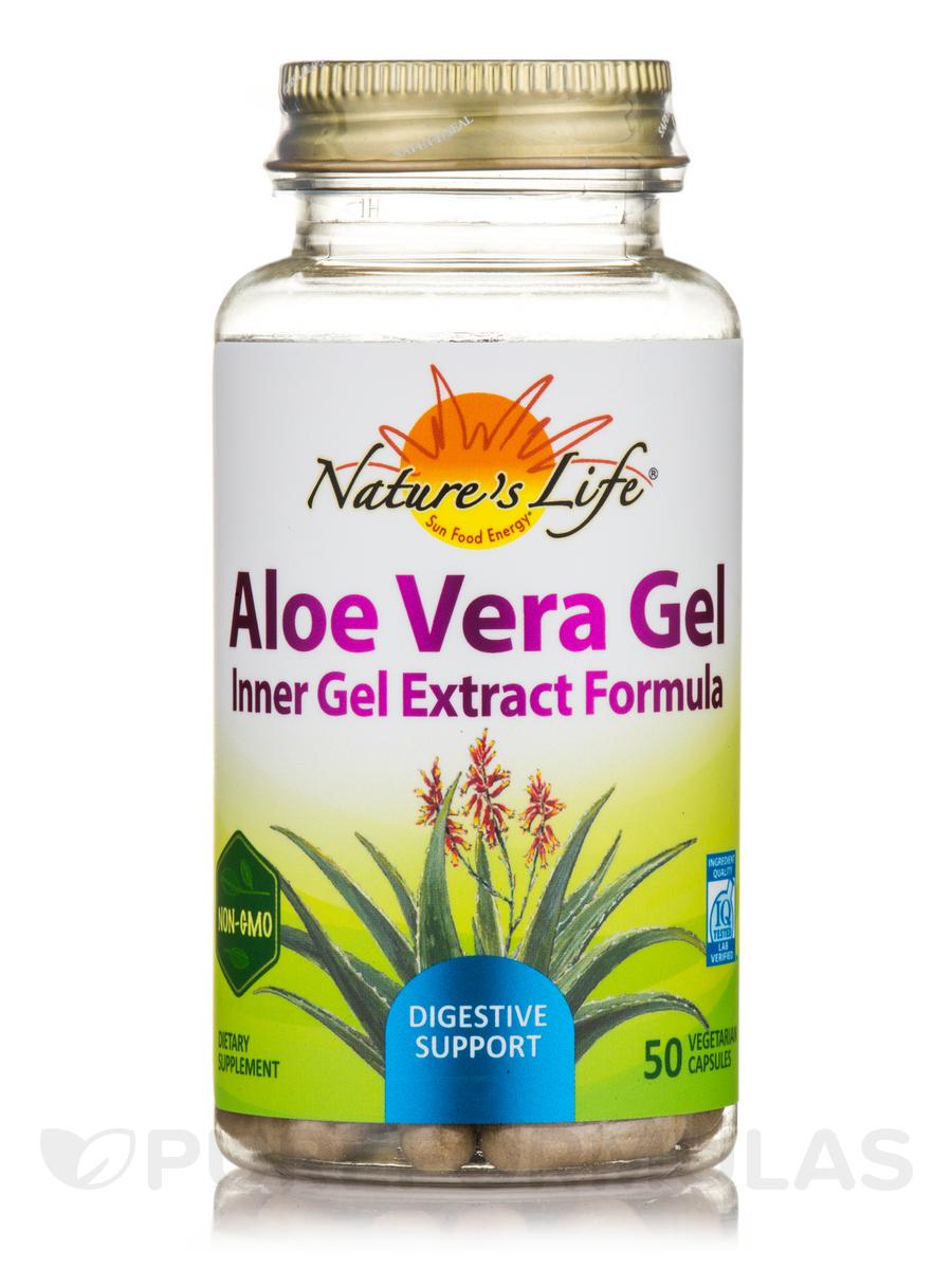 Aloe Vera Gel - 50 Vegetarian Capsules