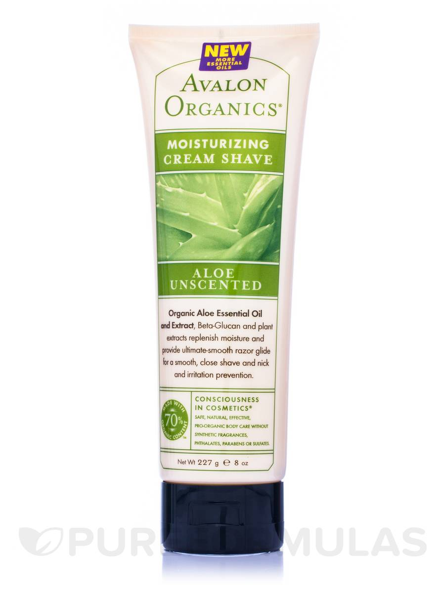 Aloe Unscented Moisturizing Cream Shave - 8 oz (227 Grams)