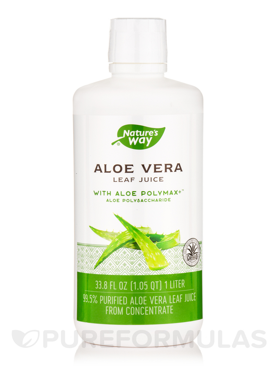 Aloe Vera Whole Leaf Juice - 1 Liter (33.8 fl. oz)