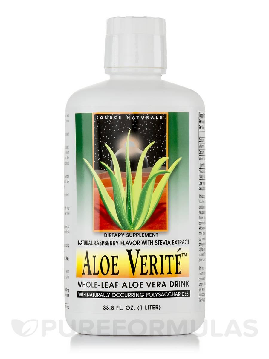 Aloe Verite Raspberry with Stevia - 1 Liter (33.8 fl. oz)