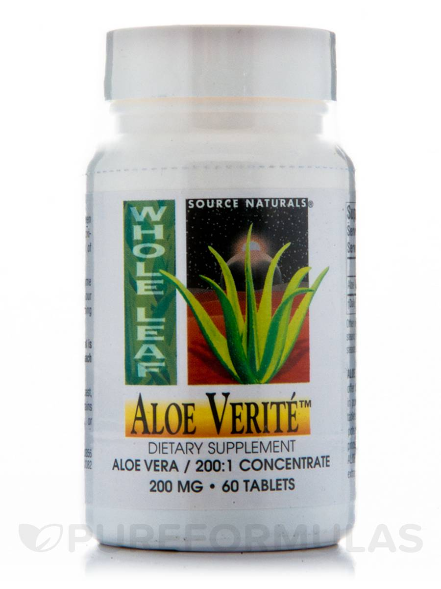 Aloe Verite Whole Leaf 200 mg - 60 Tablets