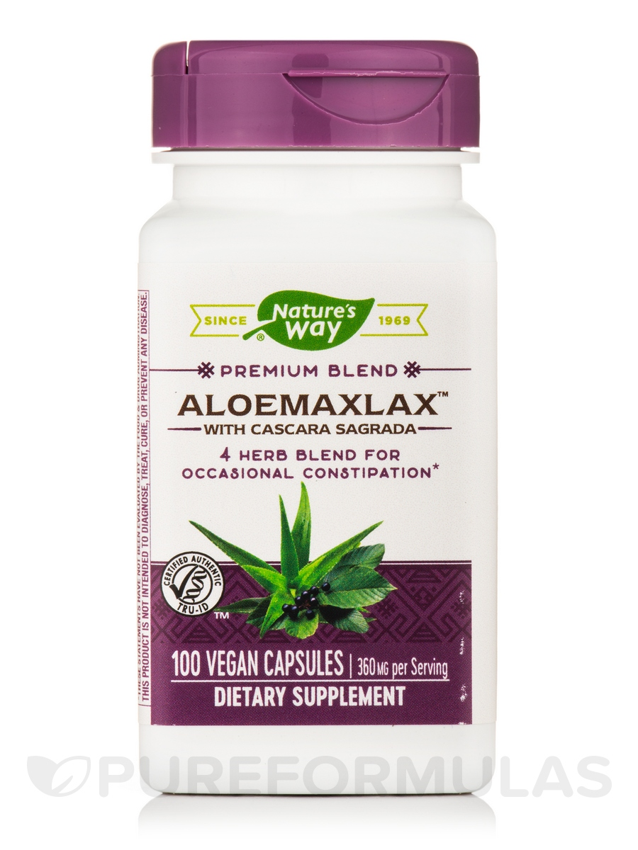 AloeMaxLax with Cascara Sagrada 445 mg - 100 VCaps