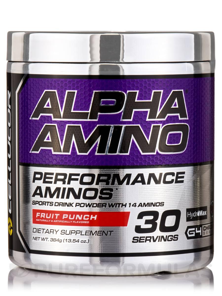 Alpha Amino Fruit Punch - 30 Servings (13.3 oz / 366 Grams)