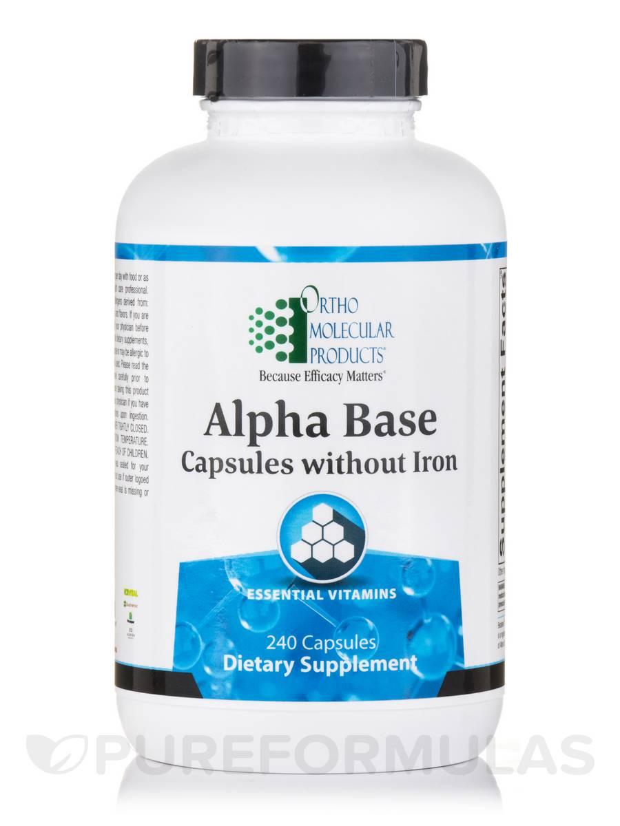 Alpha Base Capsules w/o Iron - 240 Capsules