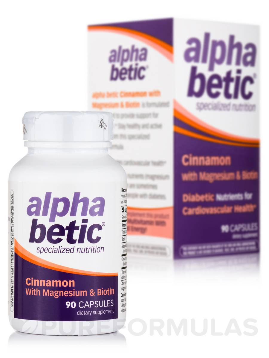 alpha betic® Cinnamon with Magnesium & Biotin - 90 Capsules
