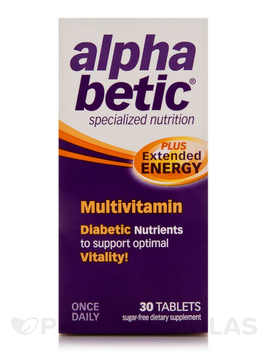 alpha betic® Multivitamin PLUS Extended Energy - 30 Tablets