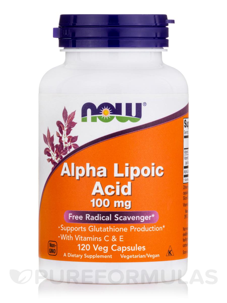 Alpha Lipoic Acid 100 mg - 120 Veg Capsules