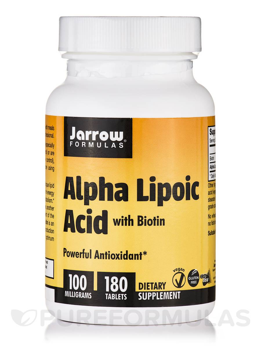 Alpha Lipoic Acid 100 mg with Biotin - 180 Tablets