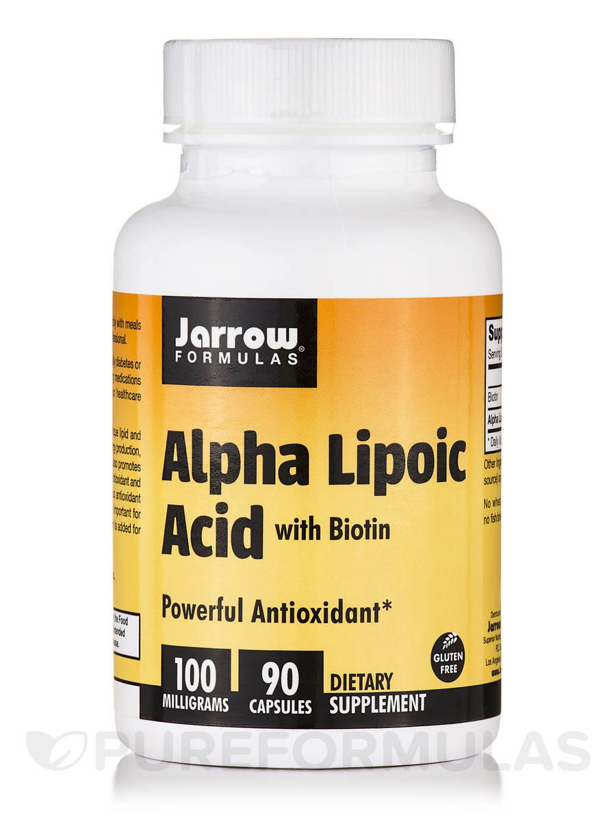 Alpha Lipoic Acid 100 mg with Biotin - 90 Capsules