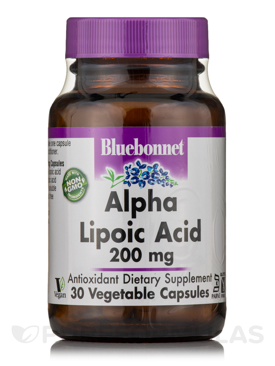 Alpha Lipoic Acid 200 mg - 30 Vegetable Capsules