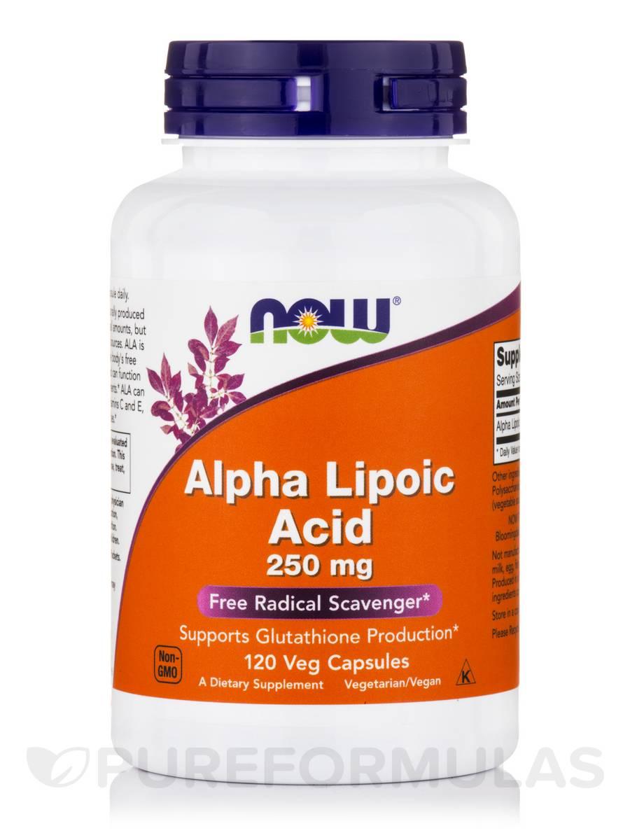 Alpha Lipoic Acid 250 mg - 120 Veg Capsules