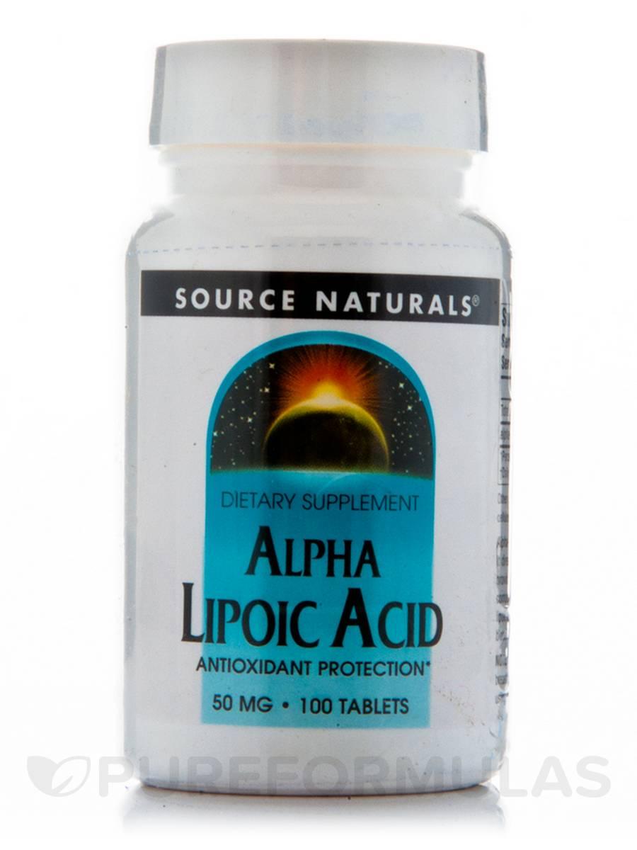 Alpha Lipoic Acid 50 mg - 100 Tablets