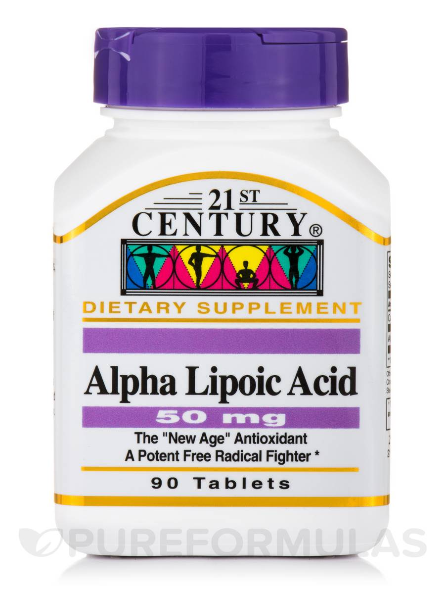 Alpha Lipoic Acid 50 mg - 90 Tablets