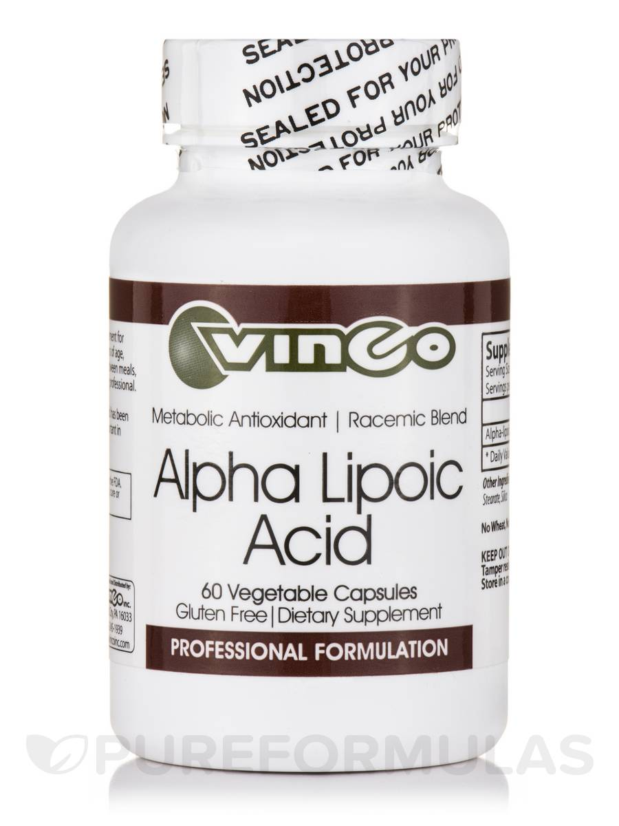 Alpha Lipoic Acid - 60 Vegetable Capsules